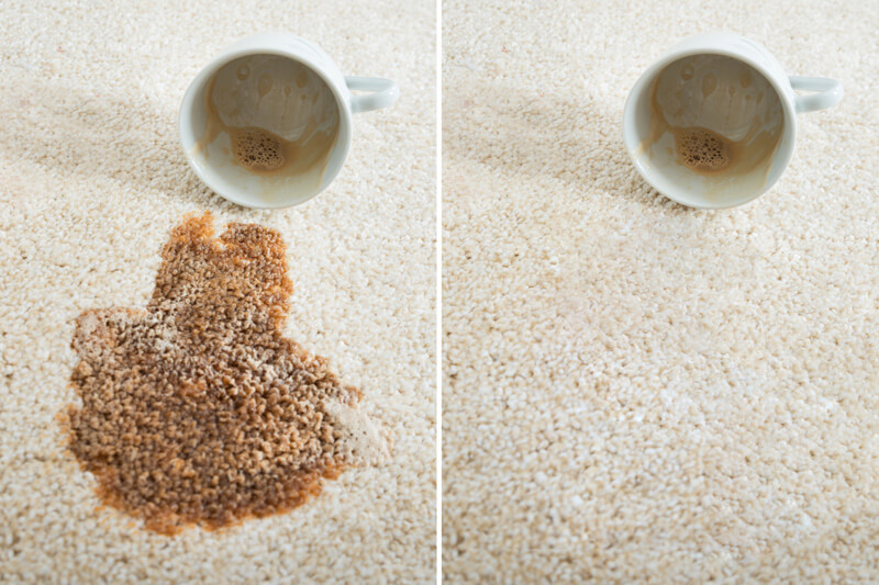 Cleaning coffee spillage in Surrey